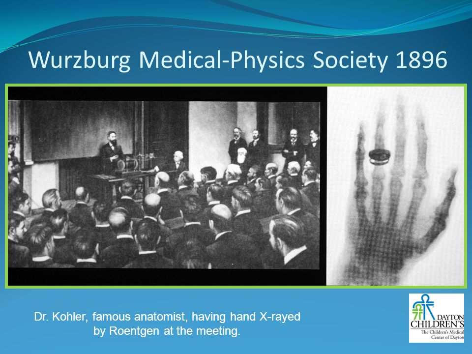 Wurzburg Medical-Physics Society 1896
