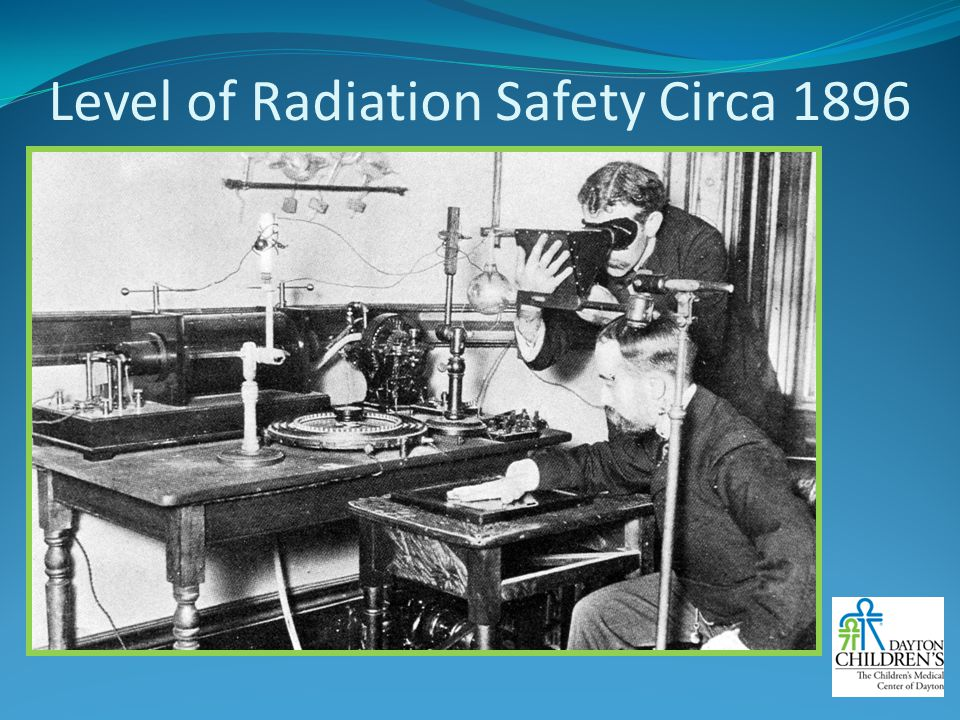 Level of Radiation Safety Circa 1896