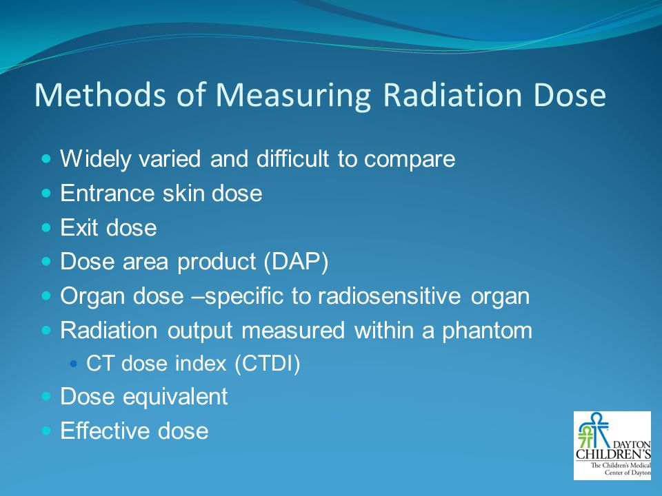 Methods of Measuring Radiation Dose