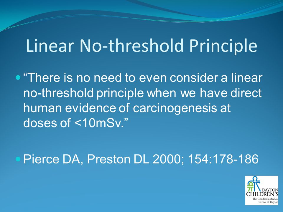 Linear No-threshold Principle