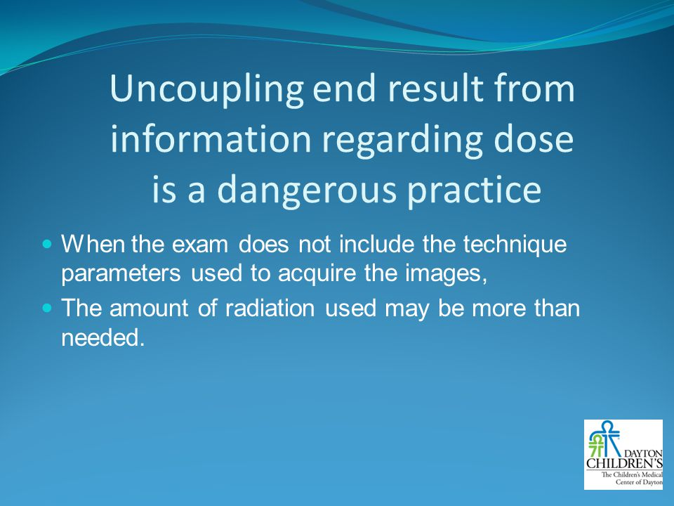 Uncoupling end result from information regarding dose is a dangerous practice