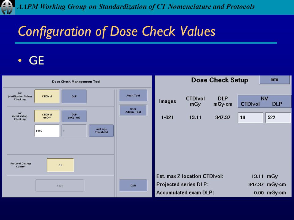Configuration of Dose Check Values