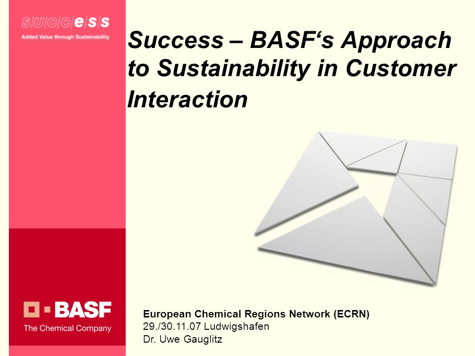 Success – BASF's Approach to Sustainability in Customer Interaction