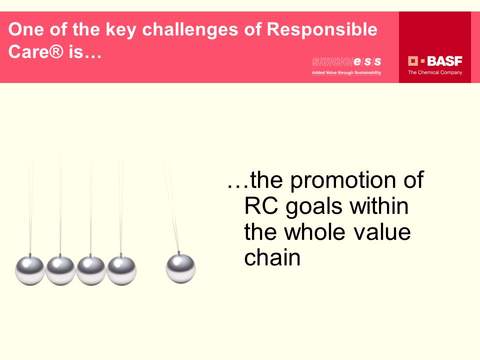 One of the key challenges of Responsible Care® is…