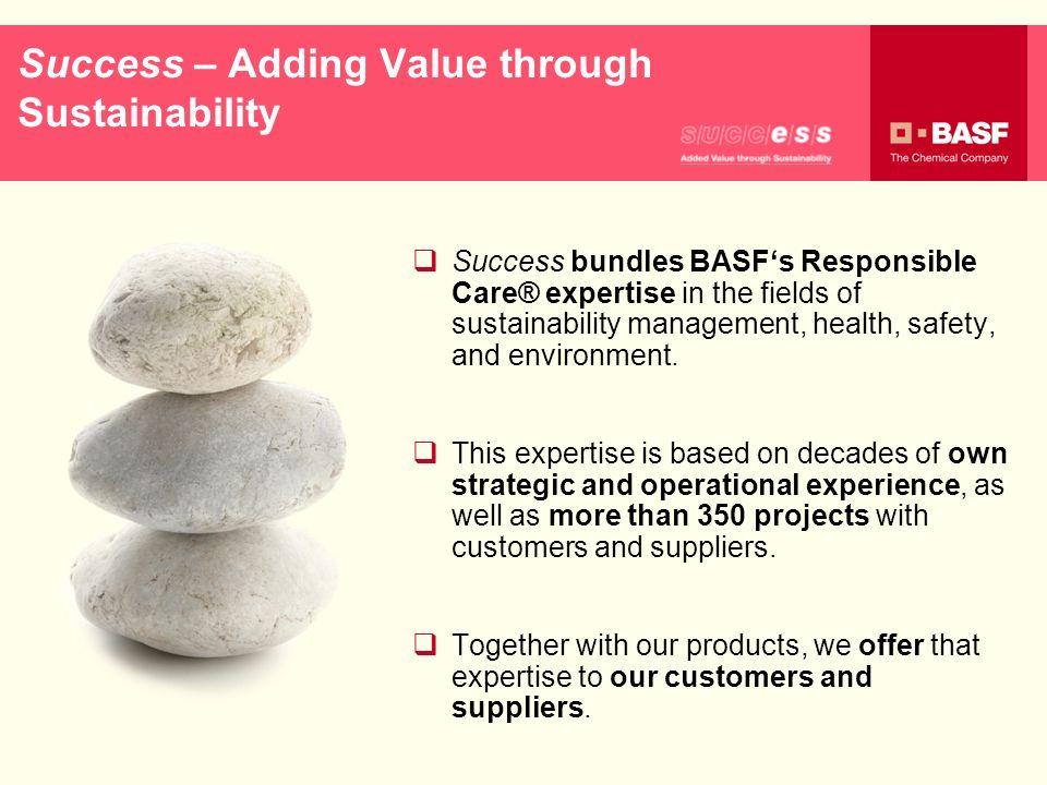 Success – Adding Value through Sustainability