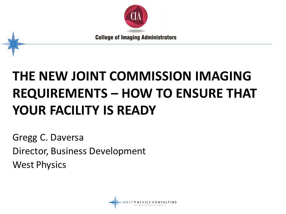 Gregg C. Daversa Director, Business Development West Physics
