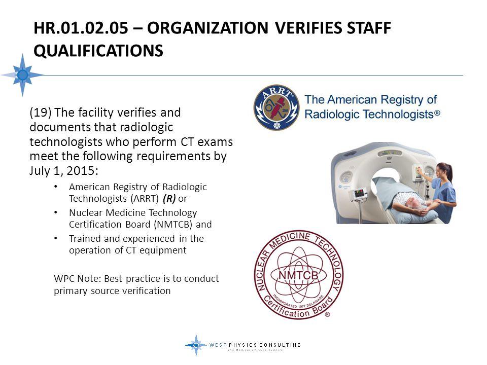 HR.01.02.05 – Organization Verifies Staff Qualifications