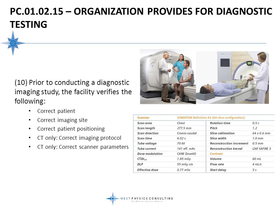 PC.01.02.15 – Organization Provides For Diagnostic Testing