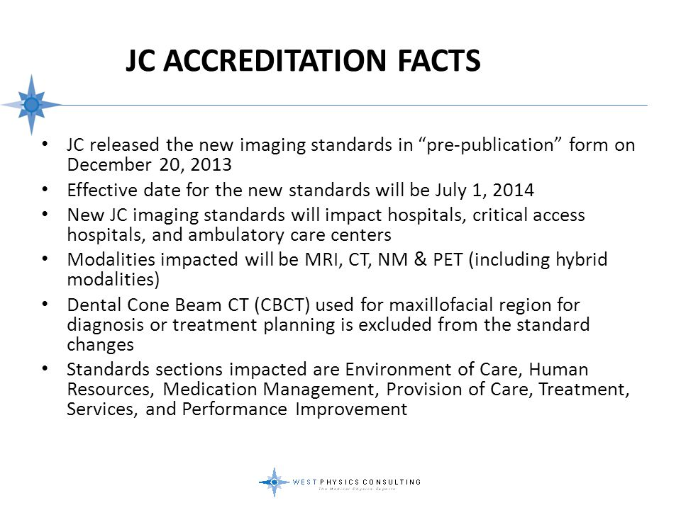 JC Accreditation Facts