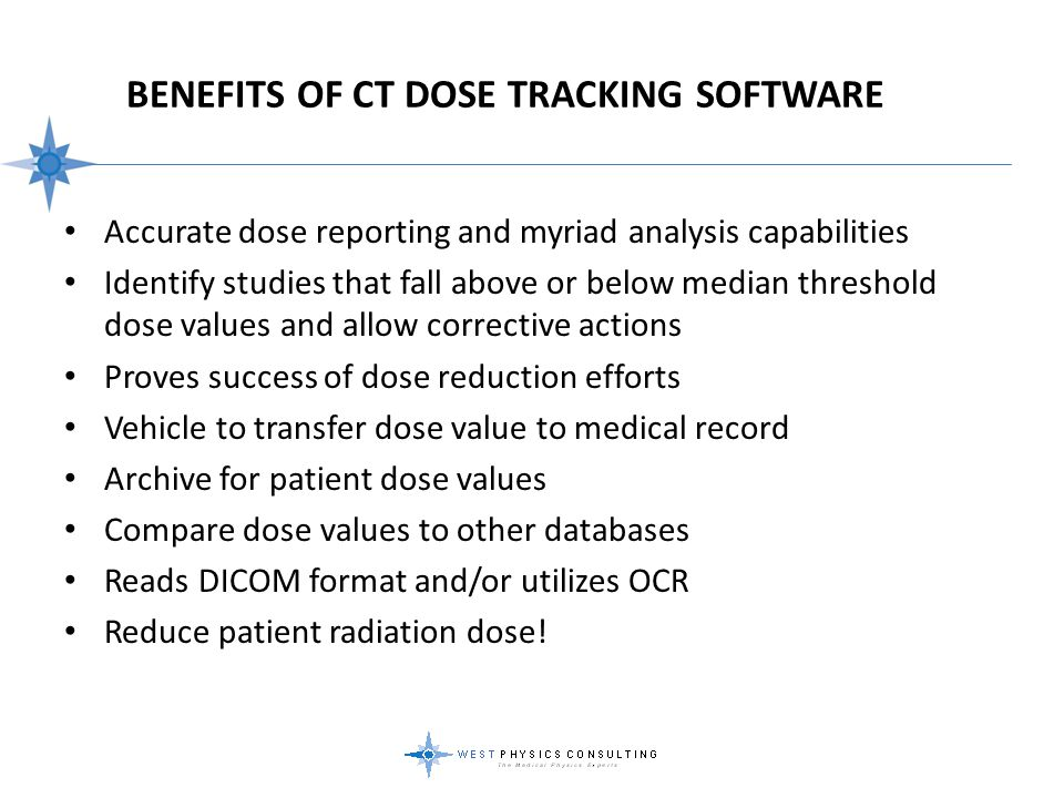 Benefits Of CT Dose Tracking Software