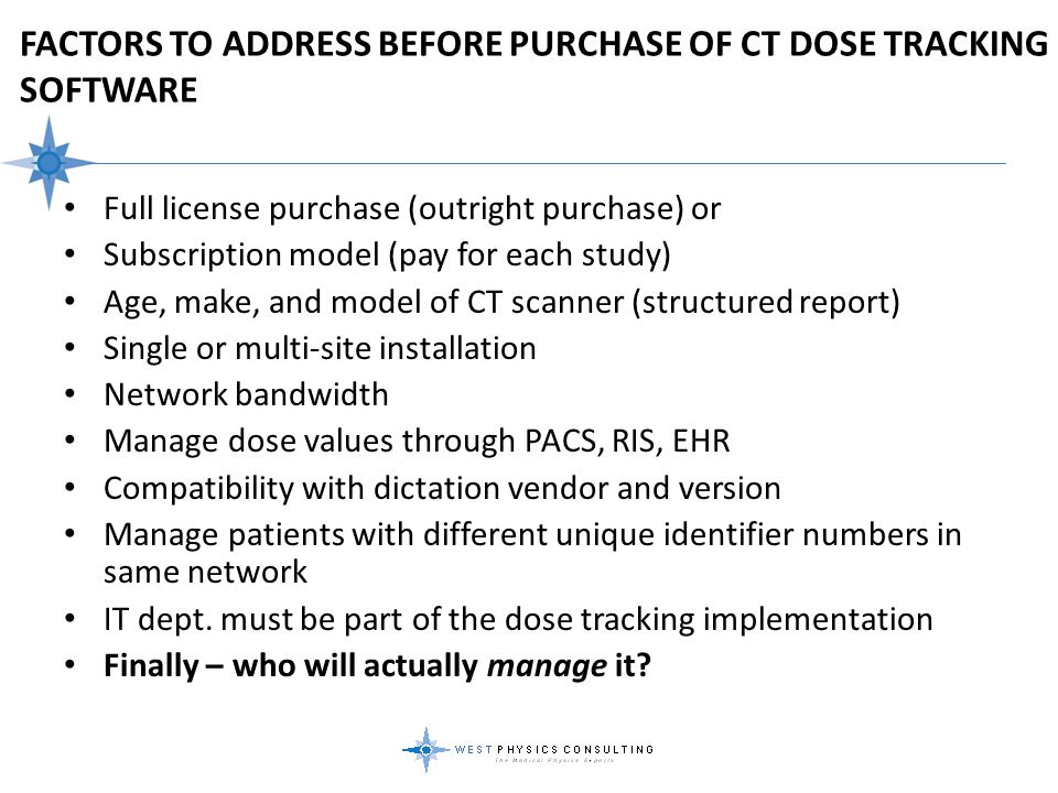 Factors To Address Before Purchase of CT Dose Tracking Software
