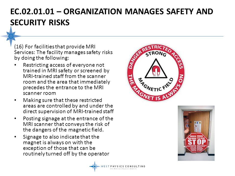 EC.02.01.01 – Organization Manages Safety And Security Risks