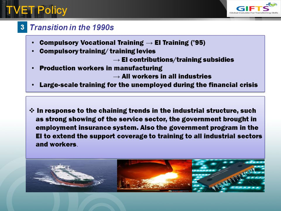 TVET Policy Transition in the 1990s 3