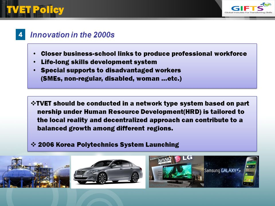 TVET Policy 4 Innovation in the 2000s
