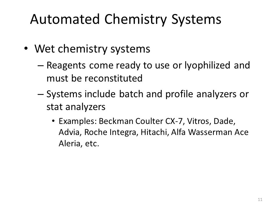 Automated Chemistry Systems