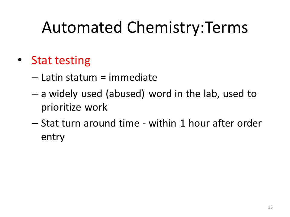 Automated Chemistry:Terms