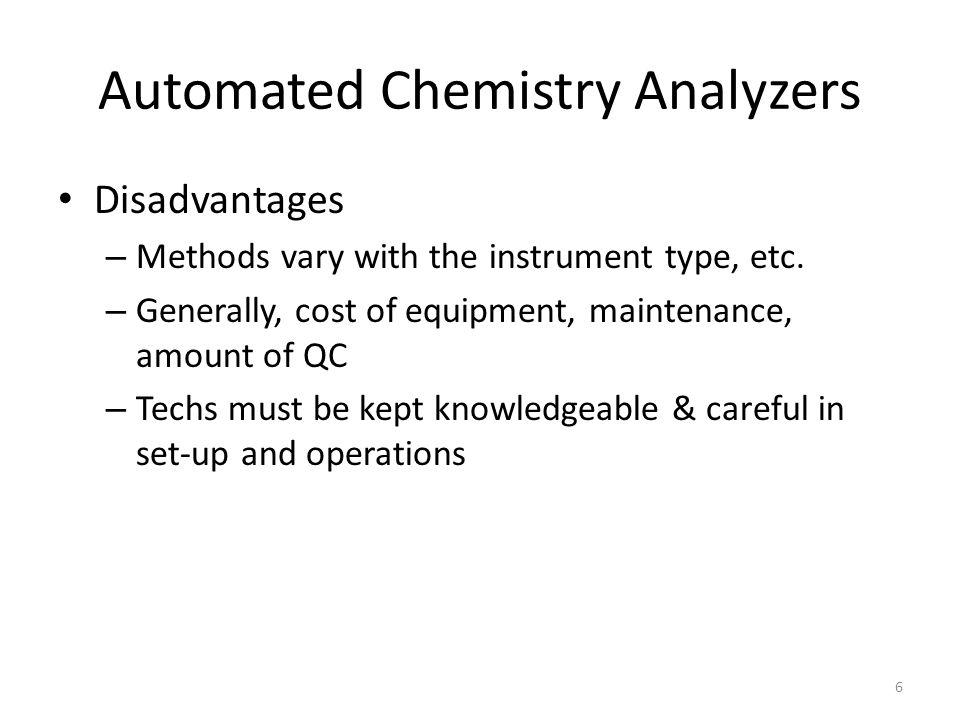 Automated Chemistry Analyzers