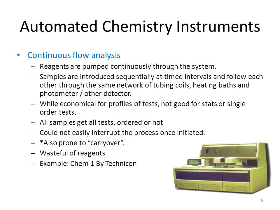 Automated Chemistry Instruments