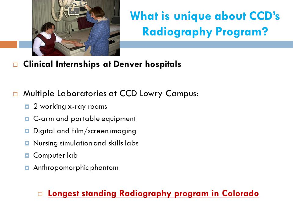 What is unique about CCD's Radiography Program