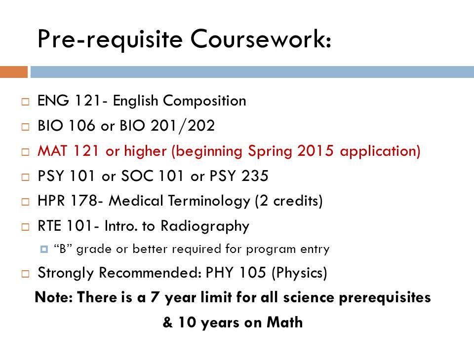 Pre-requisite Coursework: