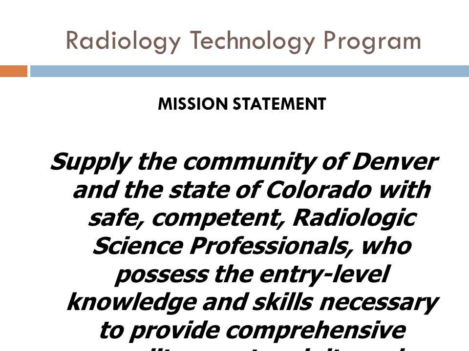 Radiology Technology Program