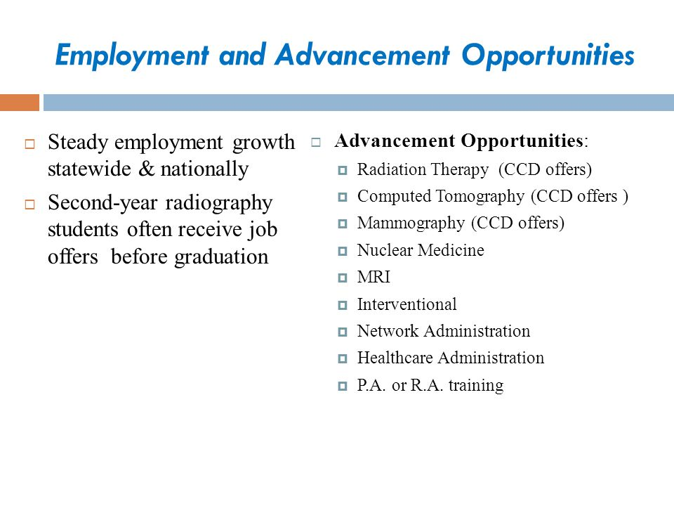 Employment and Advancement Opportunities
