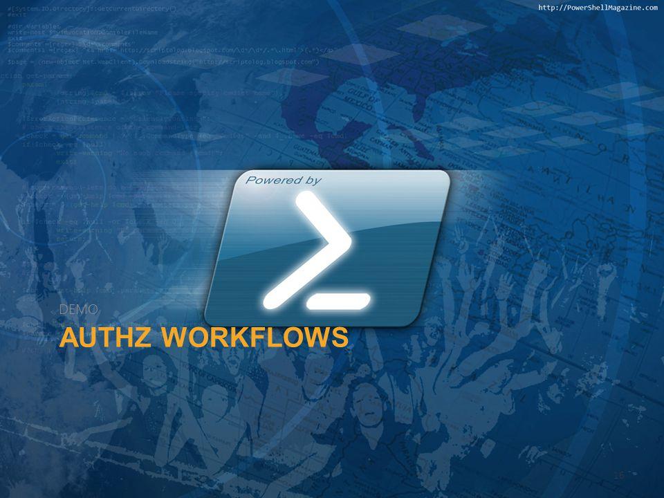 DEMO AuthZ Workflows