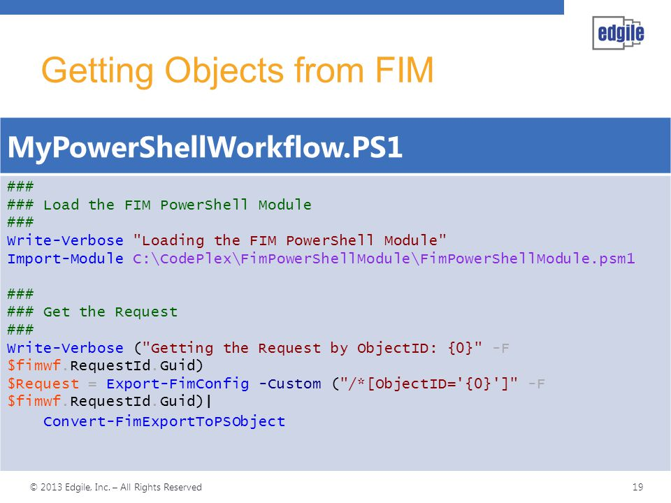 Getting Objects from FIM