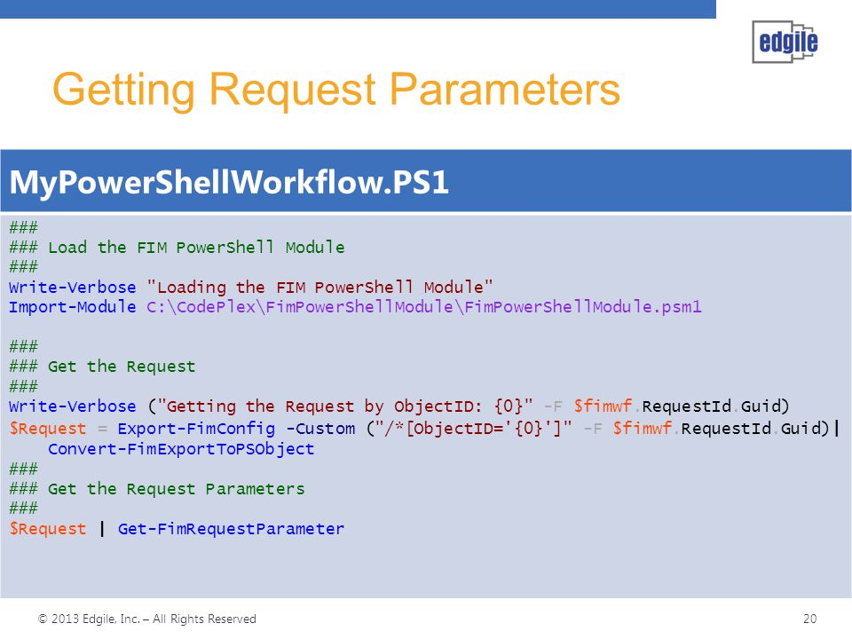 Getting Request Parameters