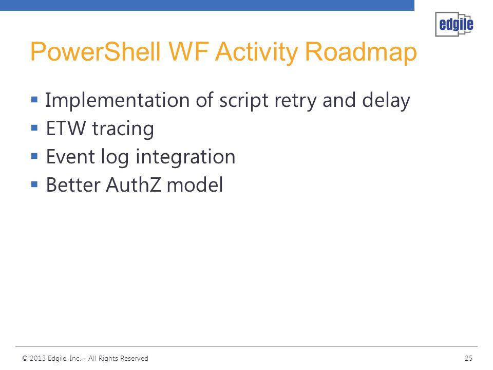 PowerShell WF Activity Roadmap