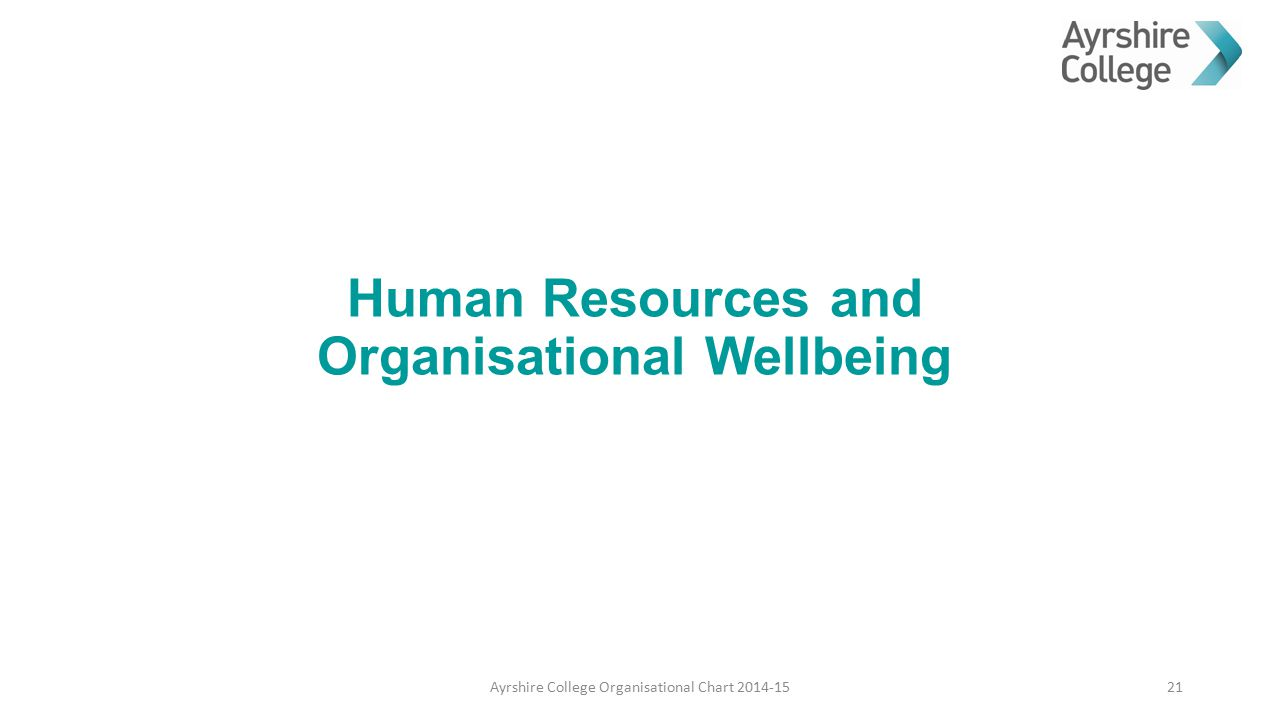 Human Resources and Organisational Wellbeing