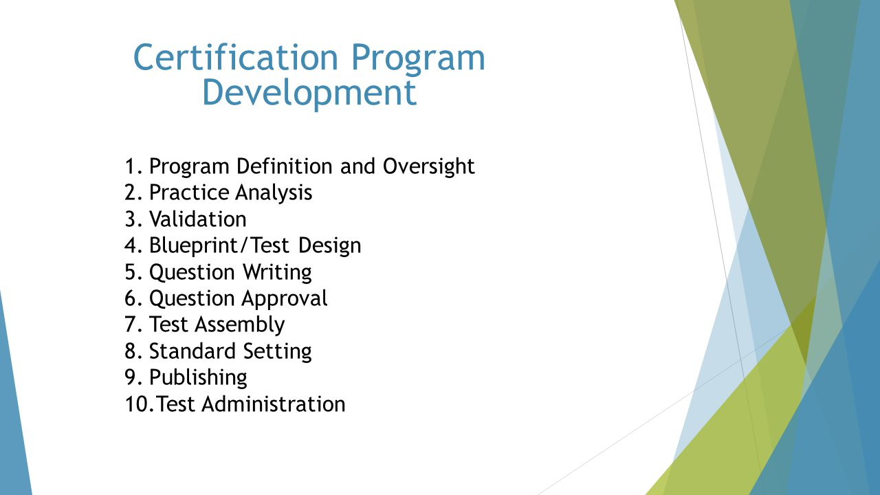 Certification Program Development