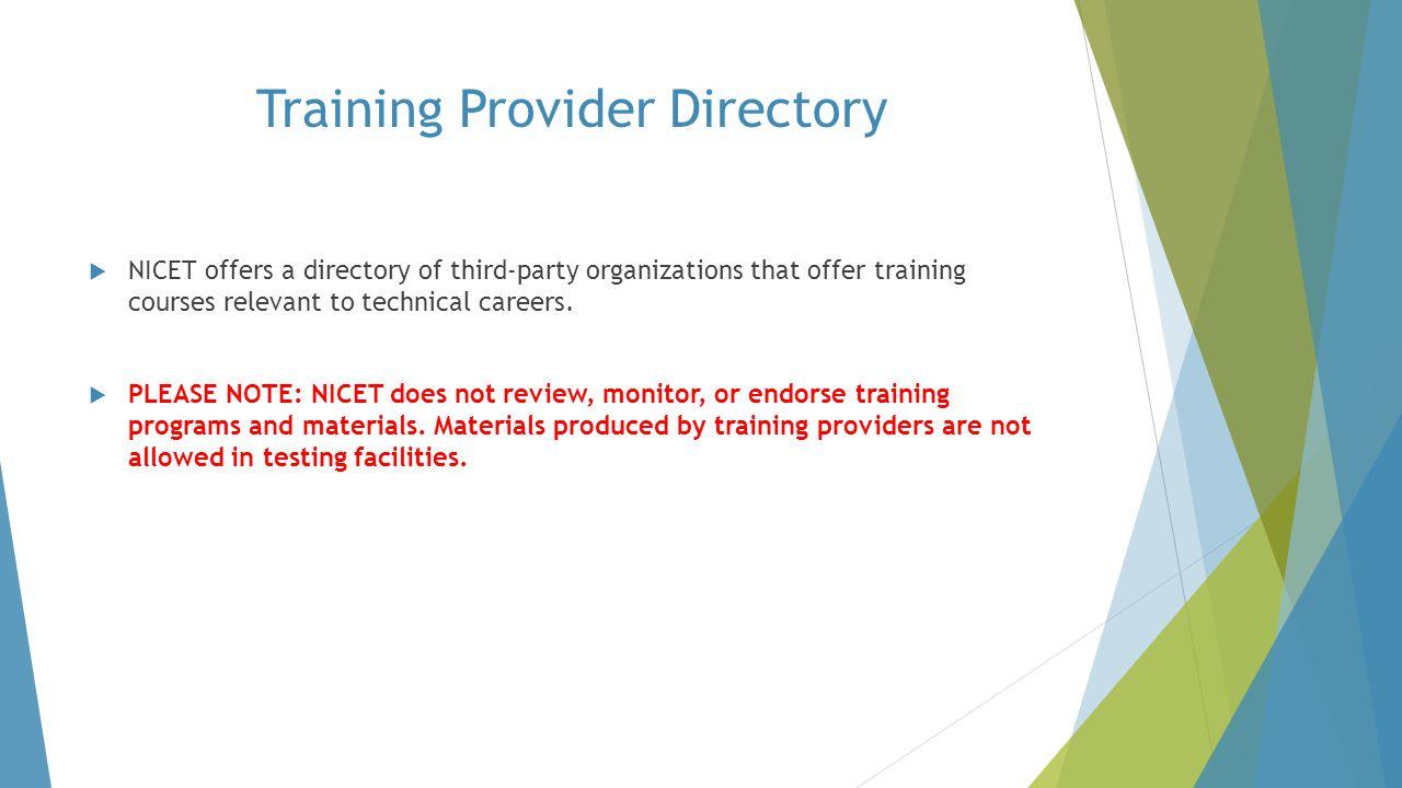 Training Provider Directory