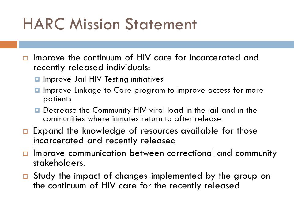 HARC Mission Statement