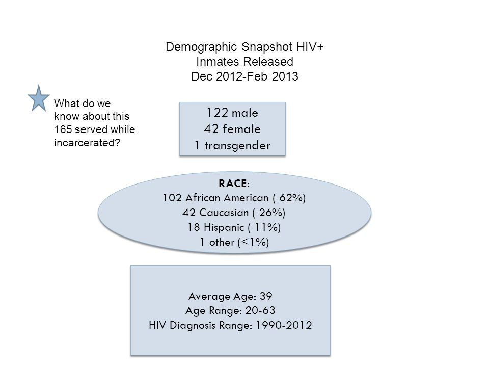Demographic Snapshot HIV+ Inmates Released