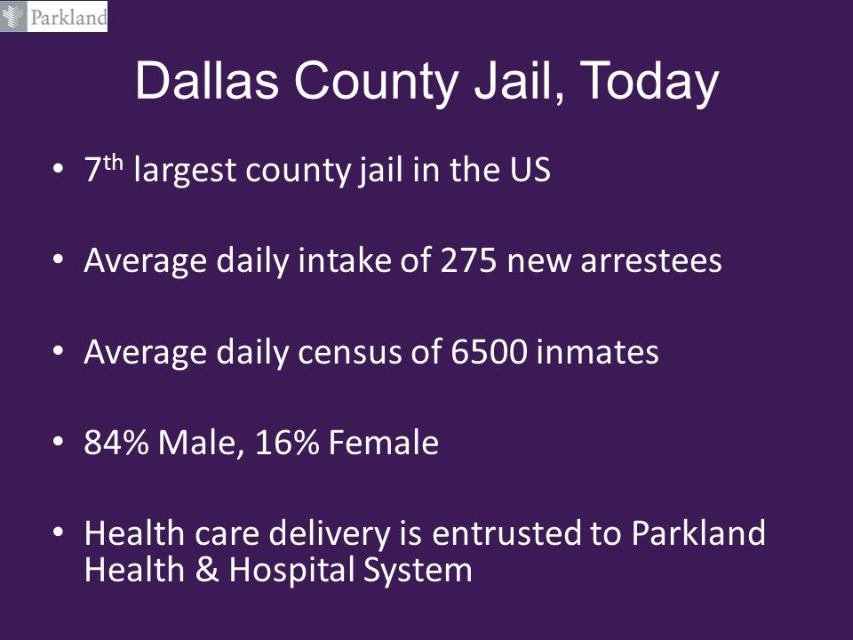 Dallas County Jail, Today