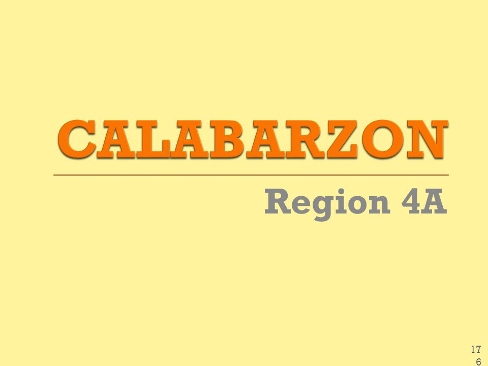 CALABARZON Region 4A