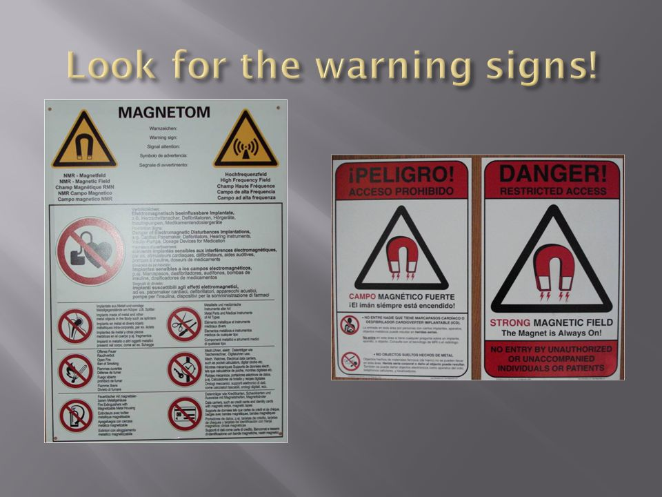 Look for the warning signs!