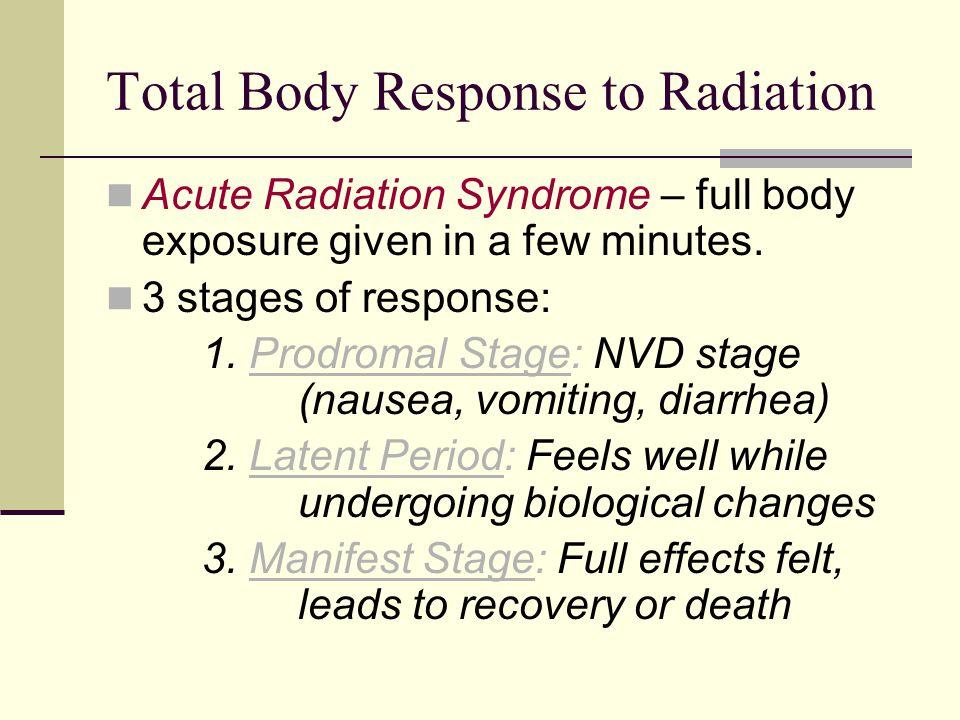 Total Body Response to Radiation