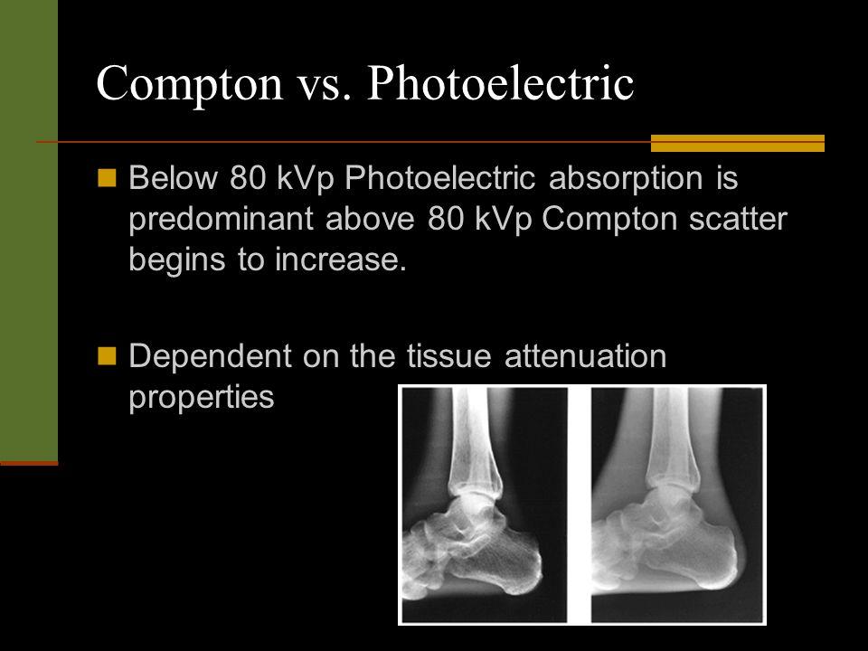 Compton vs. Photoelectric