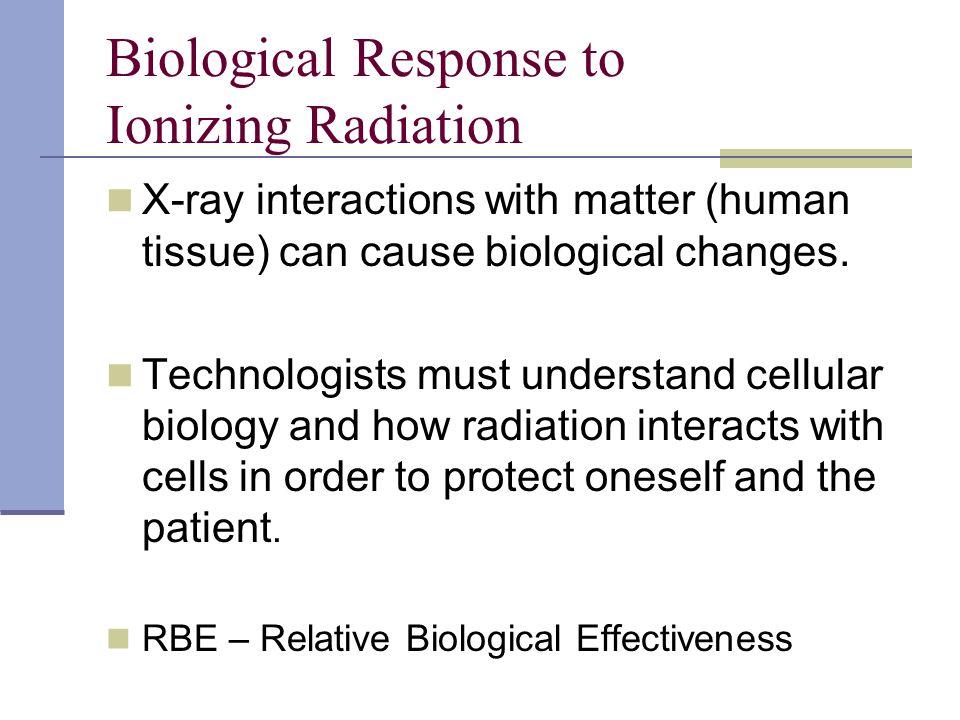 Biological Response to Ionizing Radiation