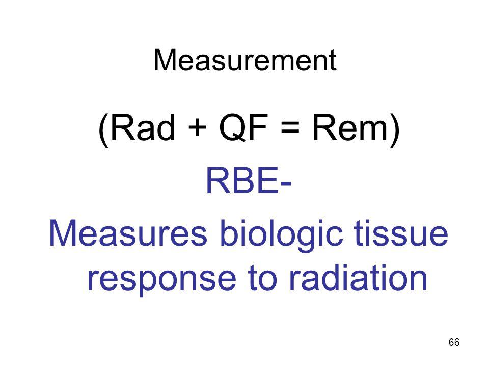 Measures biologic tissue response to radiation