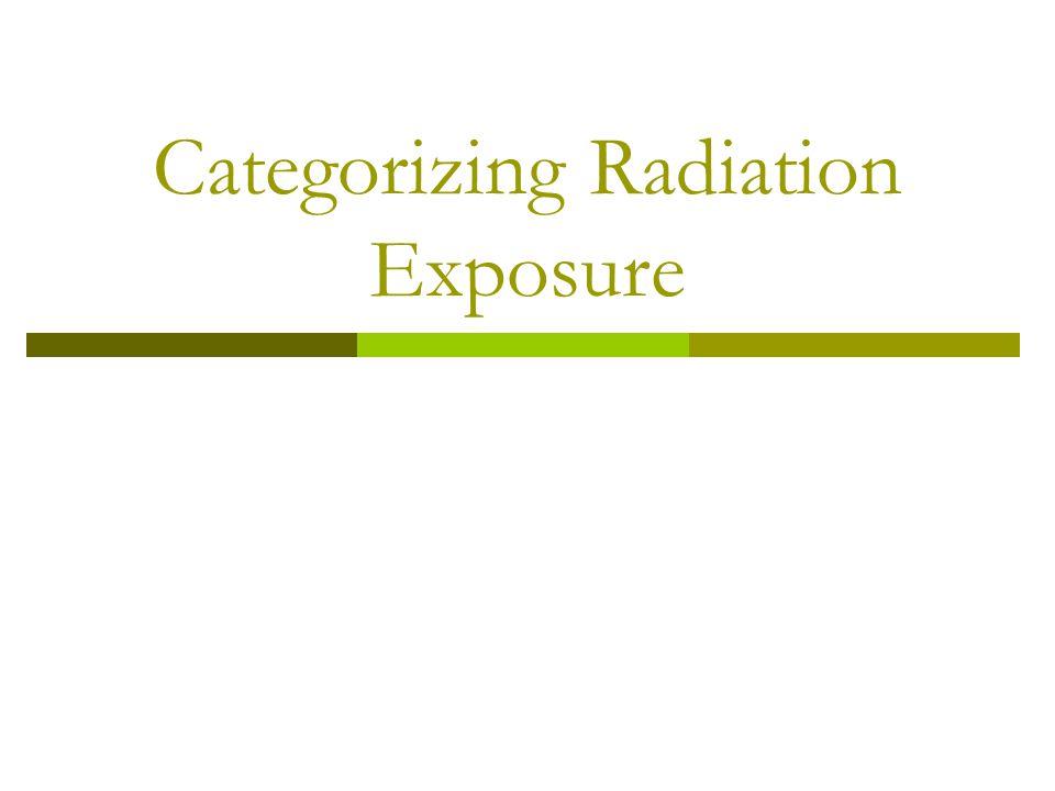 Categorizing Radiation Exposure
