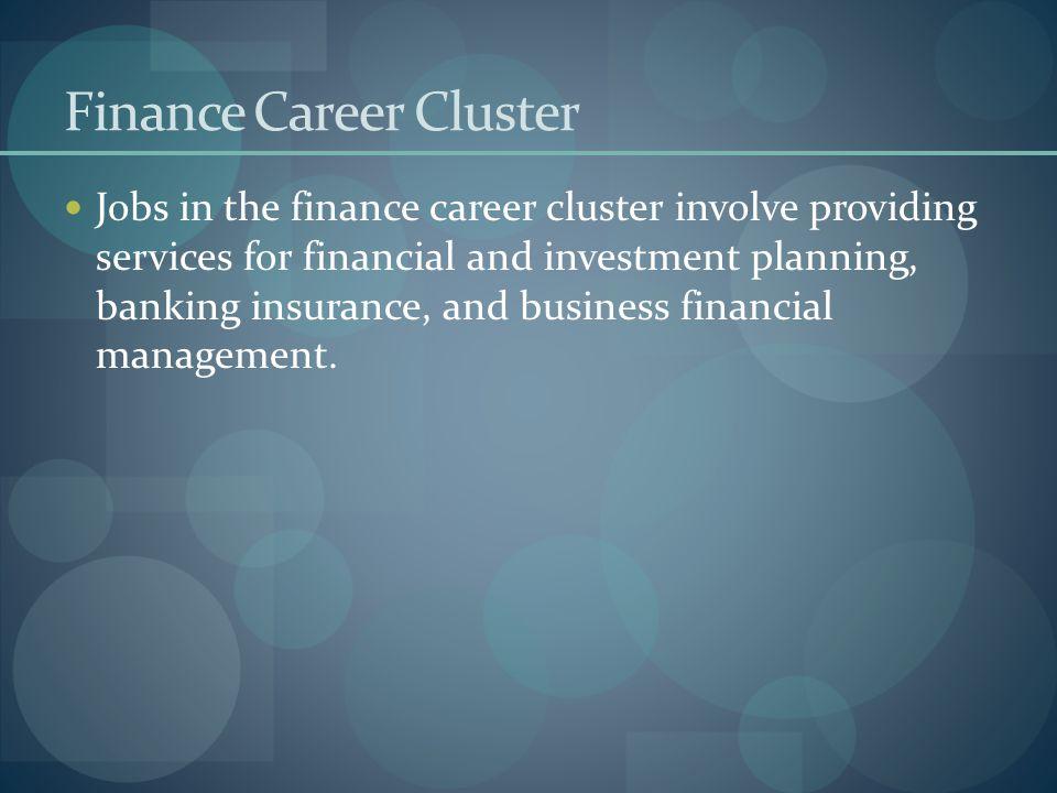 Finance Career Cluster