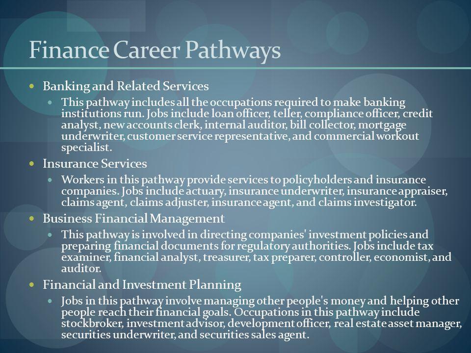 Finance Career Pathways