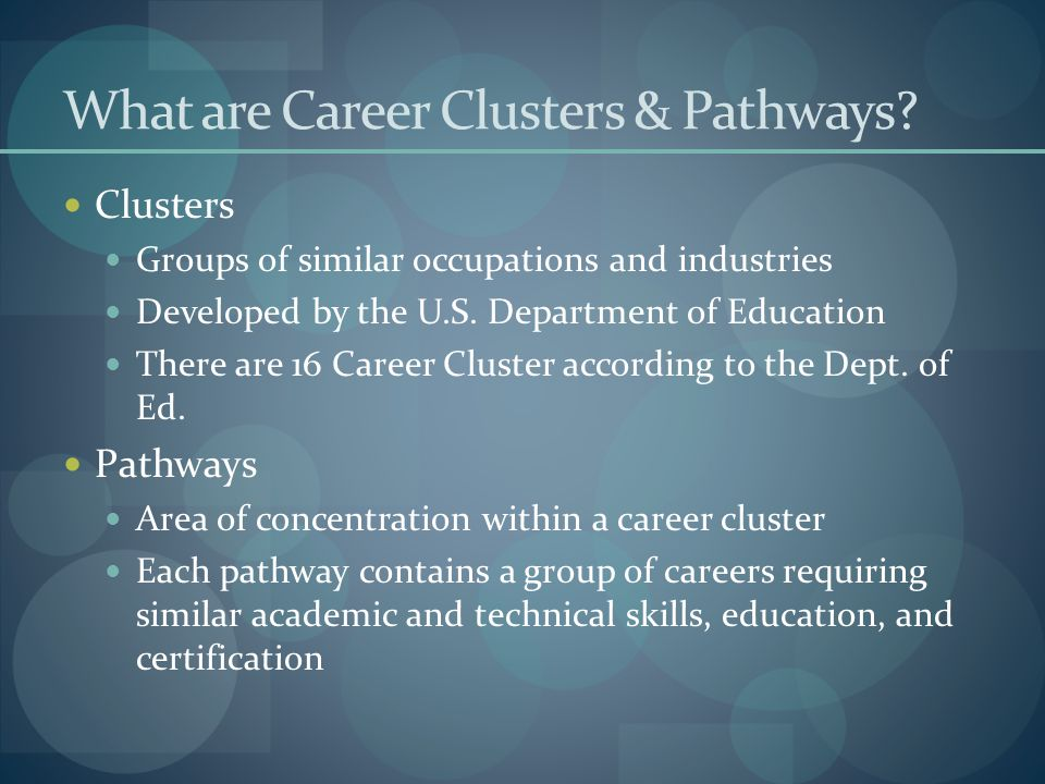 What are Career Clusters & Pathways