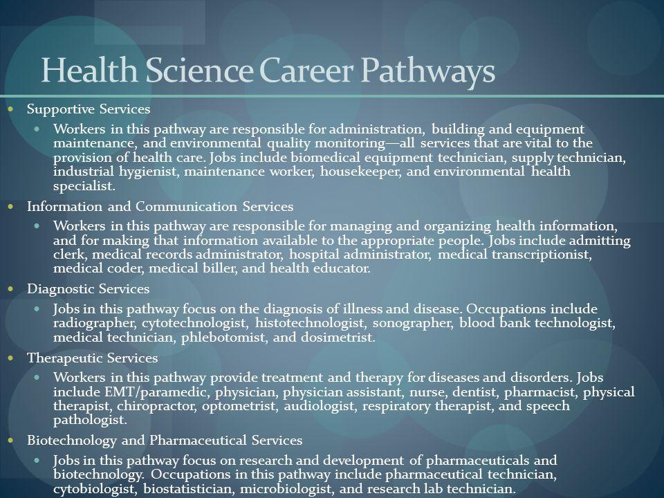 Health Science Career Pathways