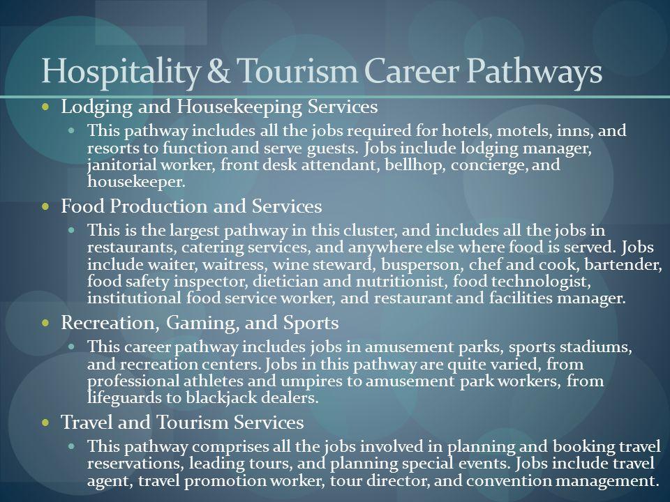 Hospitality & Tourism Career Pathways