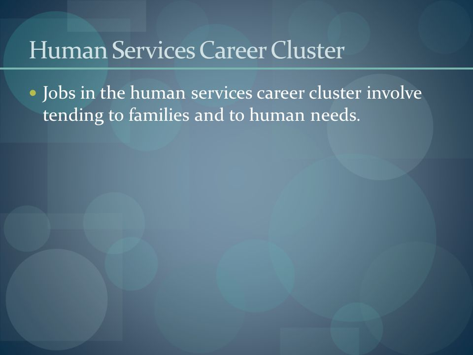 Human Services Career Cluster