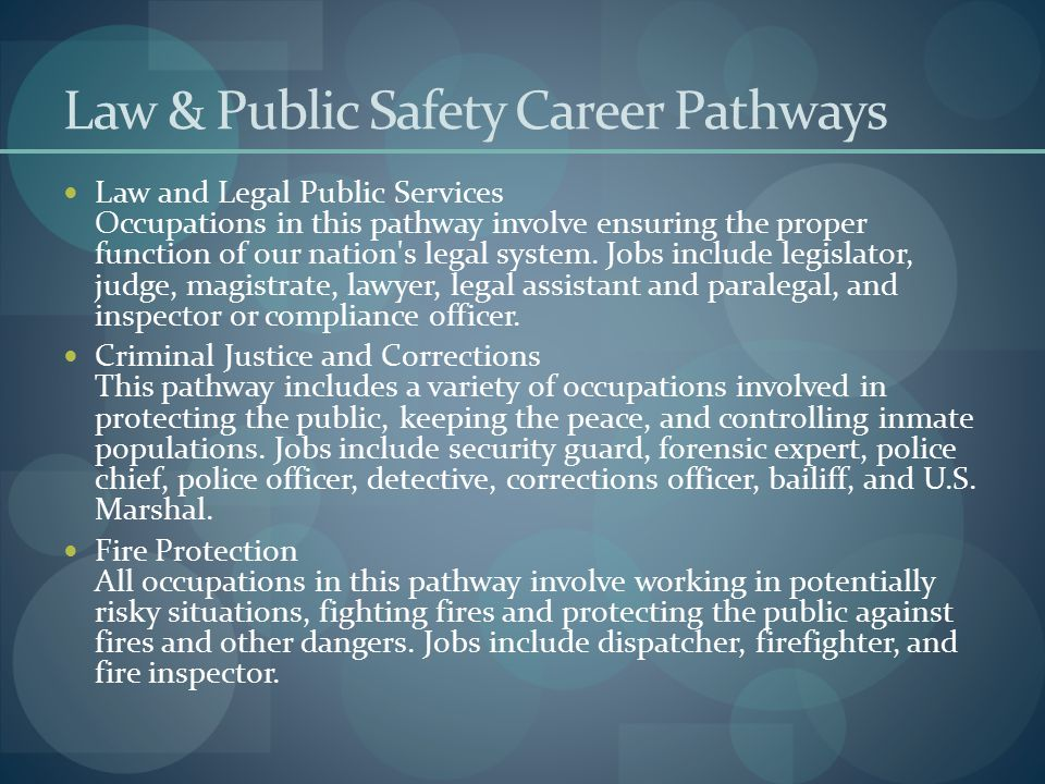 Law & Public Safety Career Pathways